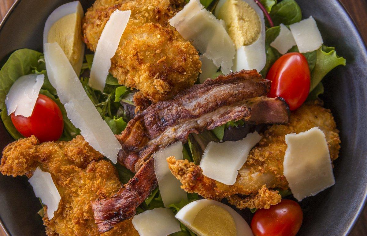 Photographie culinaire Salade Cesar