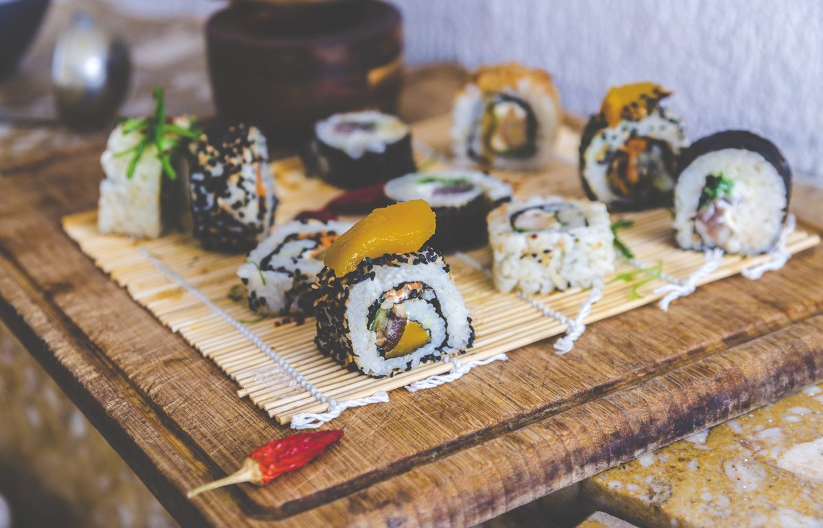Photographie culinaire sushis